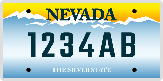 Nevada License Plate Options