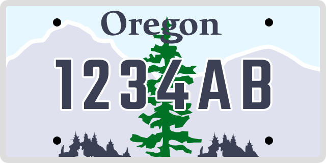 Oregon License Plate Choices