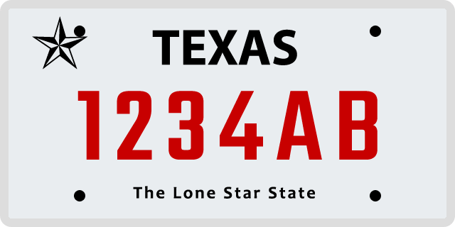 Texas Specialty License Plate Options