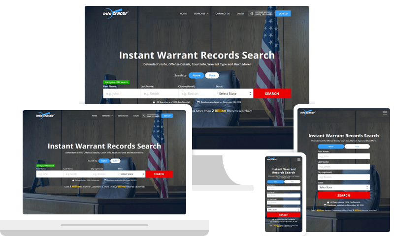 Warrant Search - Arrest & Bench Warrant Records - InfoTracer