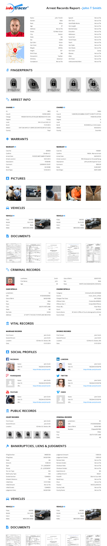 Arrest Records Report